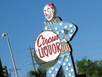 North Hollywood Circus Liquor Clown Sign