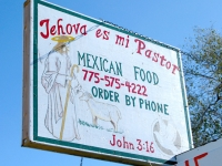 Get Jesus Tacos at Jehova es mi Pastor taqueria