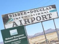 Bisbee Douglas International Airport Sign