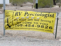 RV Proctologist, Quartzsite, Arizona Dump Station