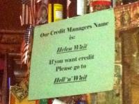 Bar Credit Manager Helen Wait