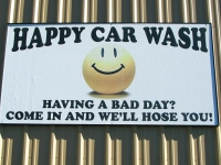Get hosed at Happy Car Wash