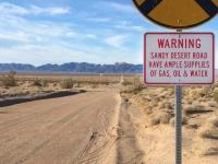 Sandy ranch road near Rice, CA Shoe Fence