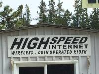 Yukon Internet Kiosk at Pioneer RV Park, Whitehorse YT