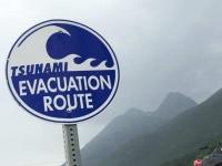 Skagway Alaska Tsunami Escape Route and Snowmobile