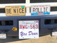 Whitehorse Yukon Walmart RV License Plates, Be Nice