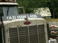 Old Haw Lass Trucker in Hyder, Alaska