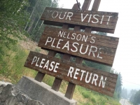 Nelson's Pleasure - Nelson, BC  Town Welcom Sign