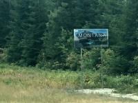 Montana Border - Small sign for big state!