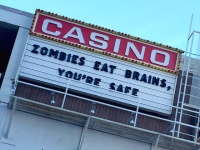 Zombies Eat Brains at Fremont Street Casino