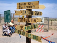 Sign Post at Trinity Atomic Bomb Test Site
