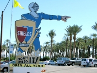 Shields Date Farm Knight Sign Indio, CA