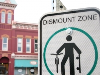 Downtown Fort Collins CO Dismount Zone