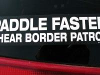 Rio Grande Kayaking Border Patrol Sticker