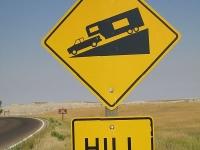 Fifth Wheels Braking in the Badlands of South Dakota