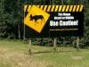 Wildlife Warning Sign on Highway 97, Brittish Columbia