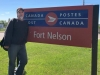 Mr Nelson at Fort Nelson Post Office, Brittish Columbia