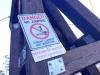 Yukon River Miles Canyon Suspension Bridge Warning, Whitehorse YT
