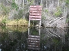 Okefenokee Swamp Canoe Trail Sign