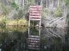 Okefenokee Swamp Canoe Trail Sign