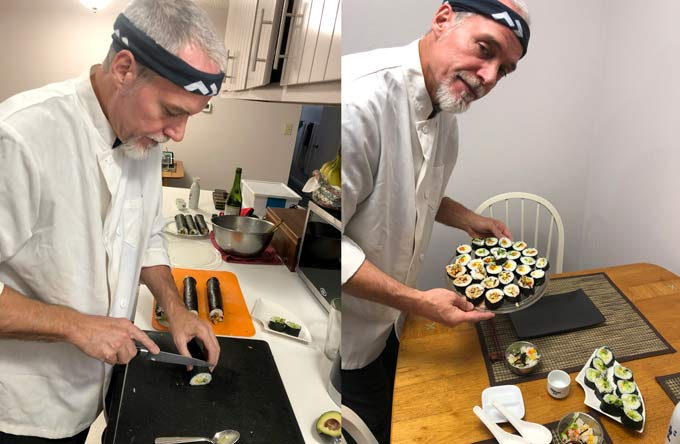 Homemade Sushi by Chef Jim