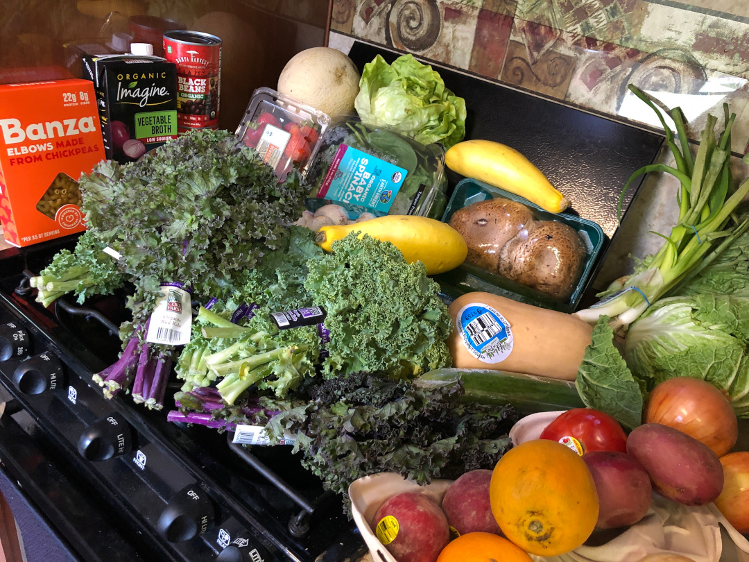 RV rural, eat well with grocery delivery service