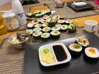 Homemade Sushi Dinner
