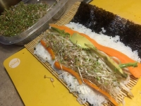 Homemade Sprout Sushi Roll