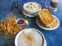 Mos yummy clam chowder and clam strips
