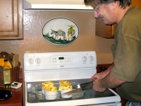 Ralph makes lemon souffle for New Years desert