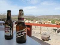 Cold Beer at Falcon Restaurant Boquillas Mexico Big Bend Texas Crossing