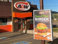 A&W Beyond Meat Burger, Burns Lake, BC