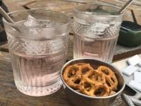 Happy Hour, McBride BC - Angostora Tonic and Dominoes
