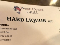 West Coast Grill Well Liquor, Nelson BC