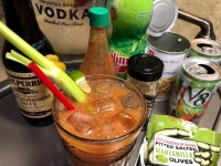 Caesar with Homemade Clamato Juice