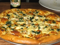 The Santa Barbara Pizza with Shrimp and Brie at Bellaluca in T or C