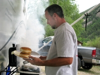 Burger night on the RVQ at the Vickers workamping site
