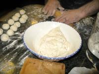 White man makes Homemade tortillas at Casa de Davenport