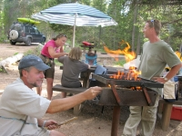 Open Fire Grilled Burgers Camping