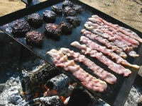 Campfire Slabs of Bacon at Slab City
