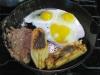 Homemade Tamale and Egg Breakfast