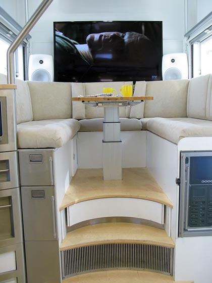 KiraVan Expedition Vehicle Interior Dinette