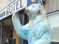 Stewart BC King Edward Hotel Welcome Bear