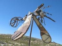 Terlingua Texas Ghost Town Junk Art Bug Sculpture