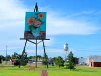 Largest Monet Replica on Giant Easel in Goodland, KS