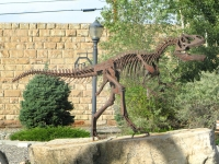 Downtown Thermopolis, WY Dinosaur Art Statue