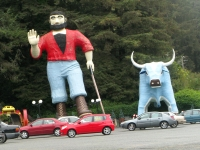 Paul Bunyan and Babe at Del Norte Trees of Mystery