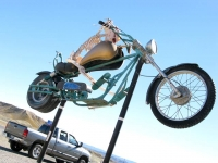 Terlingua Texas Junk Art Dead Biker Sculpture
