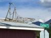 Old Dog Sled on Roof in Carcross, Yukon
