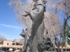 St. Francic di Assissi statue at his church in Santa Fe, NM